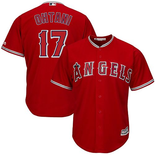 Shohei Ohtani Los Angeles Angels Majestic Big & Tall Alternate Cool Base Player Jersey   - Red