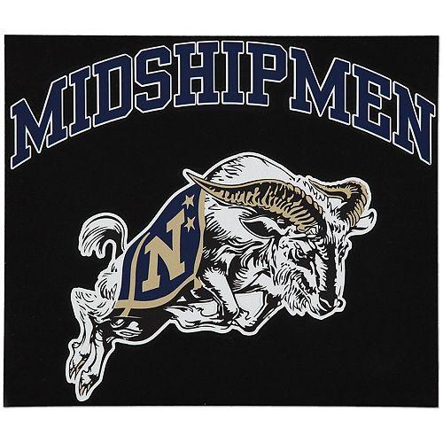 "Navy Midshipmen 12"" x 12"" Arched Logo Decal"