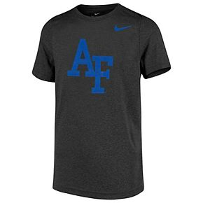 Youth Nike Anthracite Air Force Falcons Cotton Logo T-Shirt