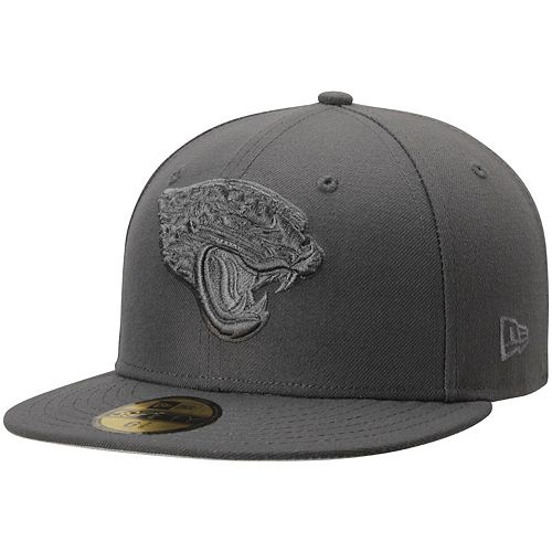 Men's New Era Graphite Jacksonville Jaguars Tonal League Basic 59FIFTY Fitted Hat