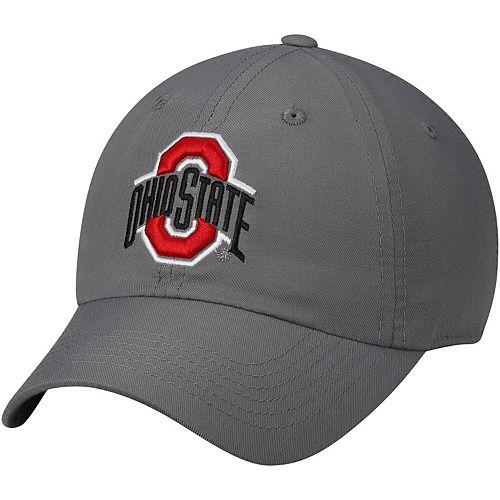 Men's Top of the World Gray Ohio State Buckeyes Primary Logo Staple Adjustable Hat