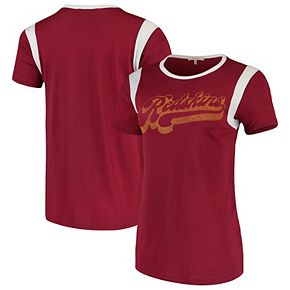 Women's Junk Food Burgundy/White Washington Redskins Retro Sport T-Shirt