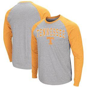 Men's Colosseum Heathered Gray Tennessee Volunteers Olympus III Raglan Long Sleeve T-Shirt