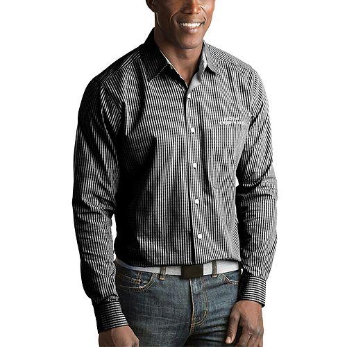 Men's Antigua Black Arizona Cardinals Division Woven Long Sleeve Button-Up Shirt