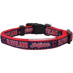 Cleveland Indians Nylon Dog Collar