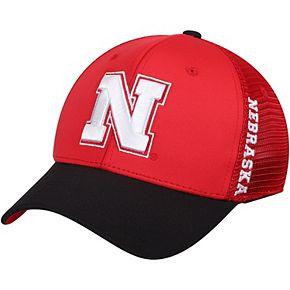 Men's Top of the World Scarlet Nebraska Cornhuskers Chatter Meshback Flex Hat