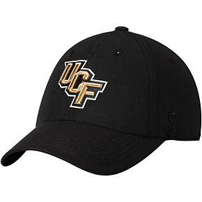 Men's Top of the World Black UCF Knights Primary Logo Staple Adjustable Hat