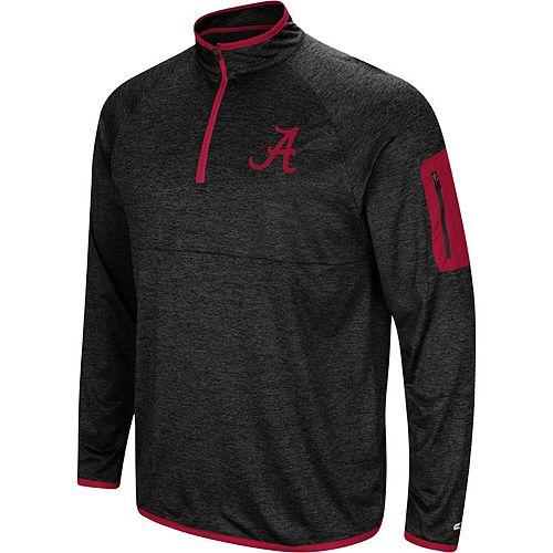 Men's Colosseum Black Alabama Crimson Tide Amnesia Quarter-Zip Pullover Jacket