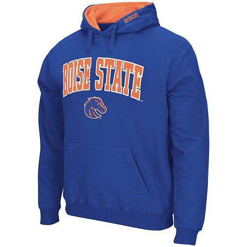 Men's Colosseum Royal Boise State Broncos Arch & Logo Pullover Hoodie