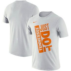 Men's Nike White Tennessee Volunteers Basketball Just Do It Performance T-Shirt