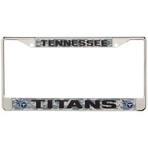 Tennessee Titans Digi Camo License Plate Frame with Black Letters