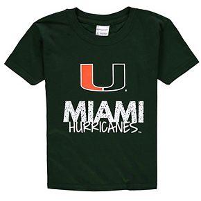 Youth Green Miami Hurricanes Crew Neck T-Shirt
