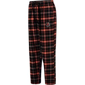 Men's Concepts Sport Black Cincinnati Bengals Ultimate Plaid Flannel Pajama Pants