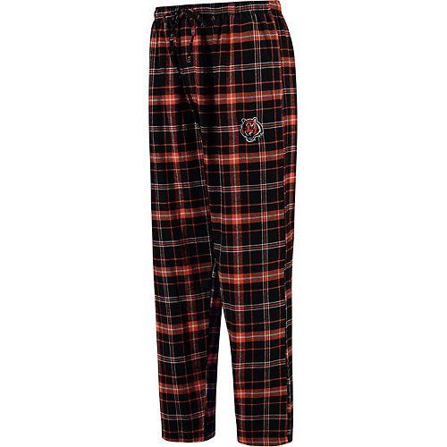 Men's Concepts Sport Black Cincinnati Bengals Ultimate Plaid Flannel Pajama Pants