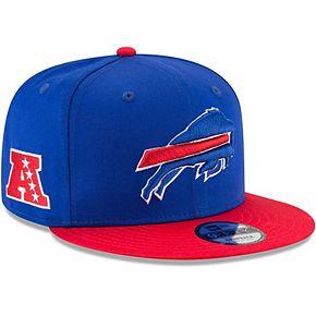 Youth New Era Royal/Red Buffalo Bills Baycik 9FIFTY Snapback Adjustable Hat
