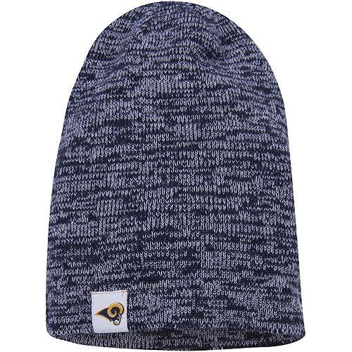 Women's New Era Navy Los Angeles Rams Team Blend Slouch Knit Hat
