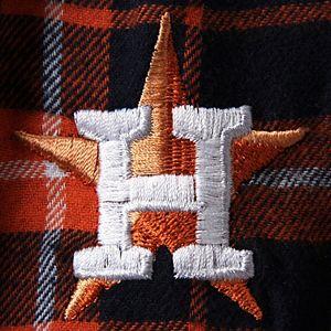 Men's Concepts Sport Navy/Orange Houston Astros Ultimate Plaid Flannel Pants
