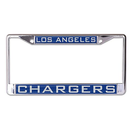 WinCraft Los Angeles Chargers Laser Inlaid Metal License Plate Frame