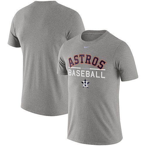 Men's Nike Heathered Gray Houston Astros Practice T-Shirt -