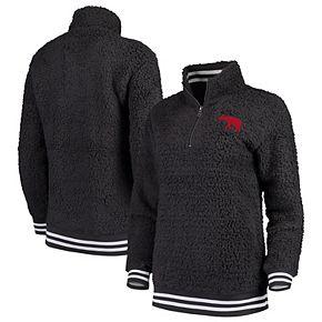 Women's Charcoal Alabama Crimson Tide Varsity Banded Sherpa Quarter-Zip Pullover Jacket