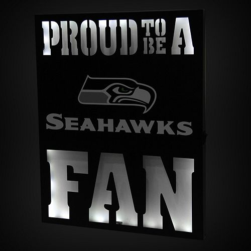 "Seattle Seahawks 12"" x 15"" LED Metal Wall Decor"