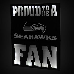 "Seattle Seahawks 12"" x 15"" LED Metal Wall Decor"