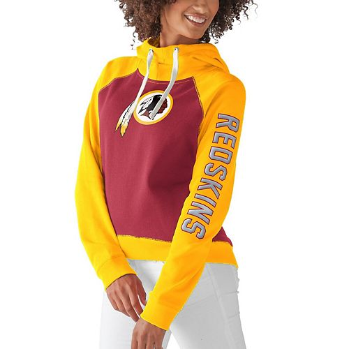Women's G-III 4Her by Carl Banks Burgundy Washington Redskins Scrimmage Pullover Hoodie
