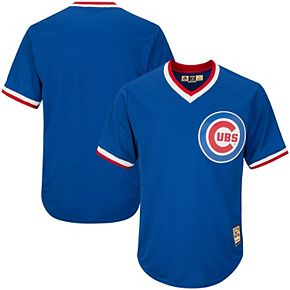 Men's Majestic Royal Chicago Cubs Big & Tall Alternate Cooperstown Collection Cool Base Replica Team Jersey