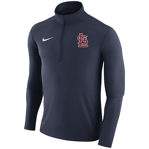 Men's Nike Navy St. Louis Cardinals Element Half-Zip Performance Top