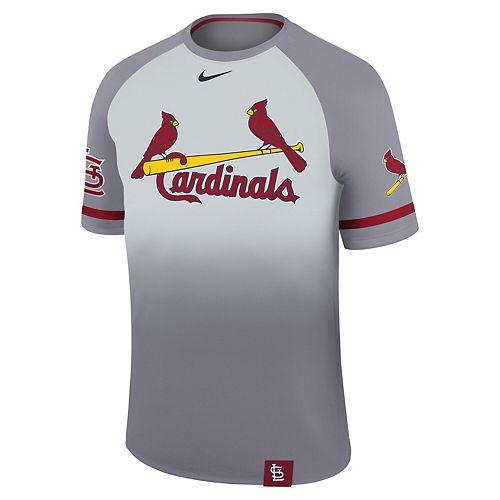 Men's Nike Platinum St. Louis Cardinals Legend Raglan T-Shirt