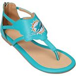Women's Cuce Aqua Miami Dolphins Gladiator Sandals