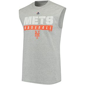 Men's Majestic Gray New York Mets Proven Pastime Sleeveless T-Shirt