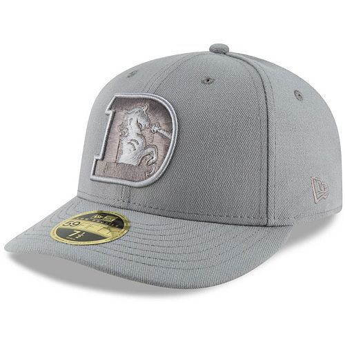 Men's New Era Gray Denver Broncos League Basic Low Profile 59FIFTY Fitted Hat