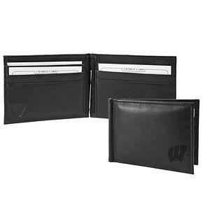 Black Wisconsin Badgers Shield Money Clip & Wallet