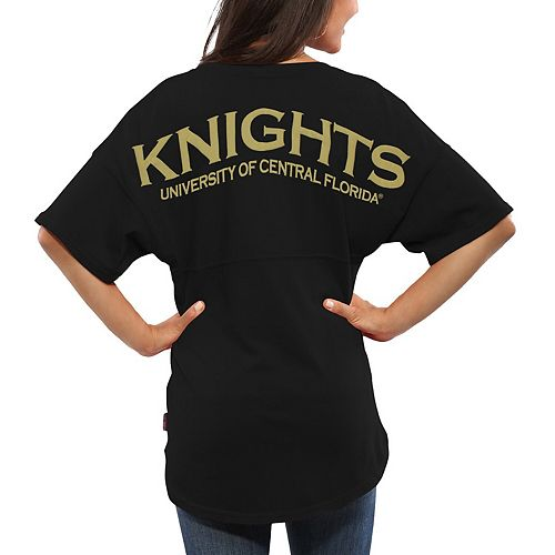 Women's Black UCF Knights Spirit Jersey Oversized T-Shirt