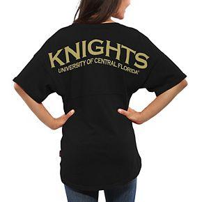 Women's Black UCF Knights Spirit Jersey Oversized T-Shirt