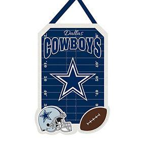 """Dallas Cowboys 20.5"""" x 16.5"""" Felt Door Decor Wall Banner"""
