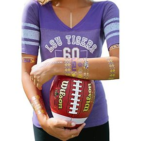 LSU Tigers Metallic Fashion Tattoos