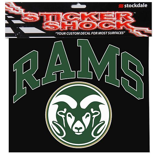 """Colorado State Rams 12"""" x 12"""" Arched Logo Decal"""