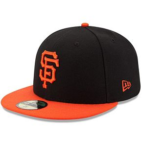 Men's New Era Black/Orange San Francisco Giants Authentic Collection On-Field 59FIFTY Fitted Hat