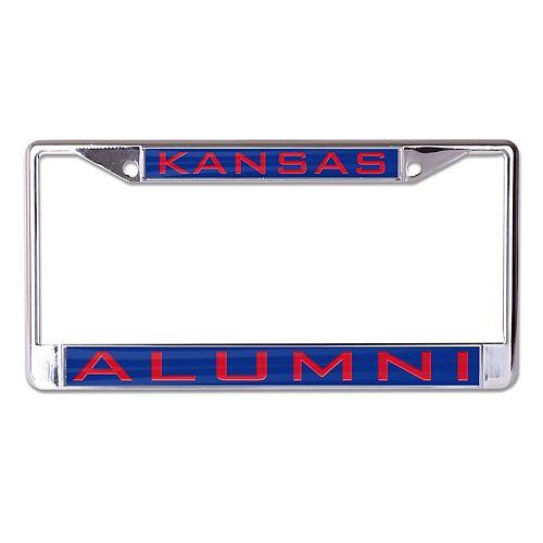 WinCraft Kansas Jayhawks Alumni Inlaid Metal License Plate Frame