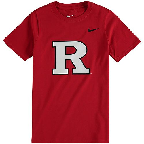 Youth Nike Scarlet Rutgers Scarlet Knights Cotton Logo T-Shirt
