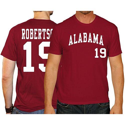 Men's Original Retro Brand David Robertson Crimson Alabama Crimson Tide Baseball Name & Number T-Shirt