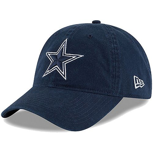 Men's New Era Navy Dallas Cowboys Core Fit Lightly Structured 49FORTY Fitted Hat