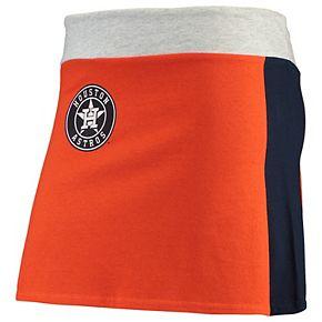 Women's Refried Tees Orange Houston Astros Mini Tee-Skirt