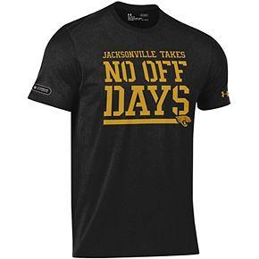 Men's Under Armour Black Jacksonville Jaguars Combine Authentic No Days Off T-Shirt