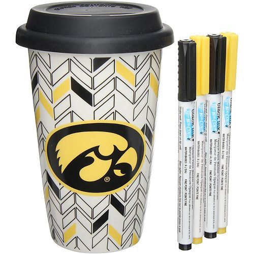 Iowa Hawkeyes Just Add Color Travel Cup