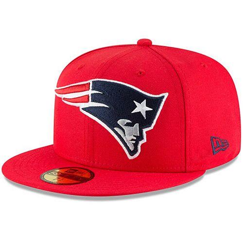 Men's New Era Red New England Patriots Omaha 59FIFTY Hat