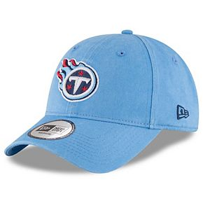 Men's New Era Light Blue Tennessee Titans NE Core Fit 49FORTY Fitted Hat