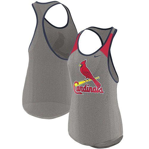 Women's Nike Heather Gray St. Louis Cardinals Wordmark Legend Tank Top